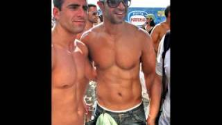 israel men on tel aviv beach israeli male beauty sport fun love art painting