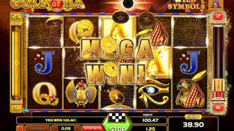 Gold of Ra Slot (Gameart) - Freespins Feature  - Big Win