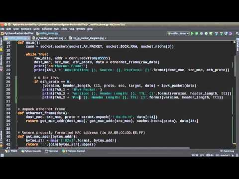 Python Network Packet Sniffer Tutorial - 2 - Formatting MAC