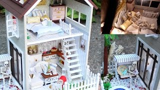 DIY Miniature Doll House Full Set With Lights, Bedroom, Kitchen, Living Room, Pool