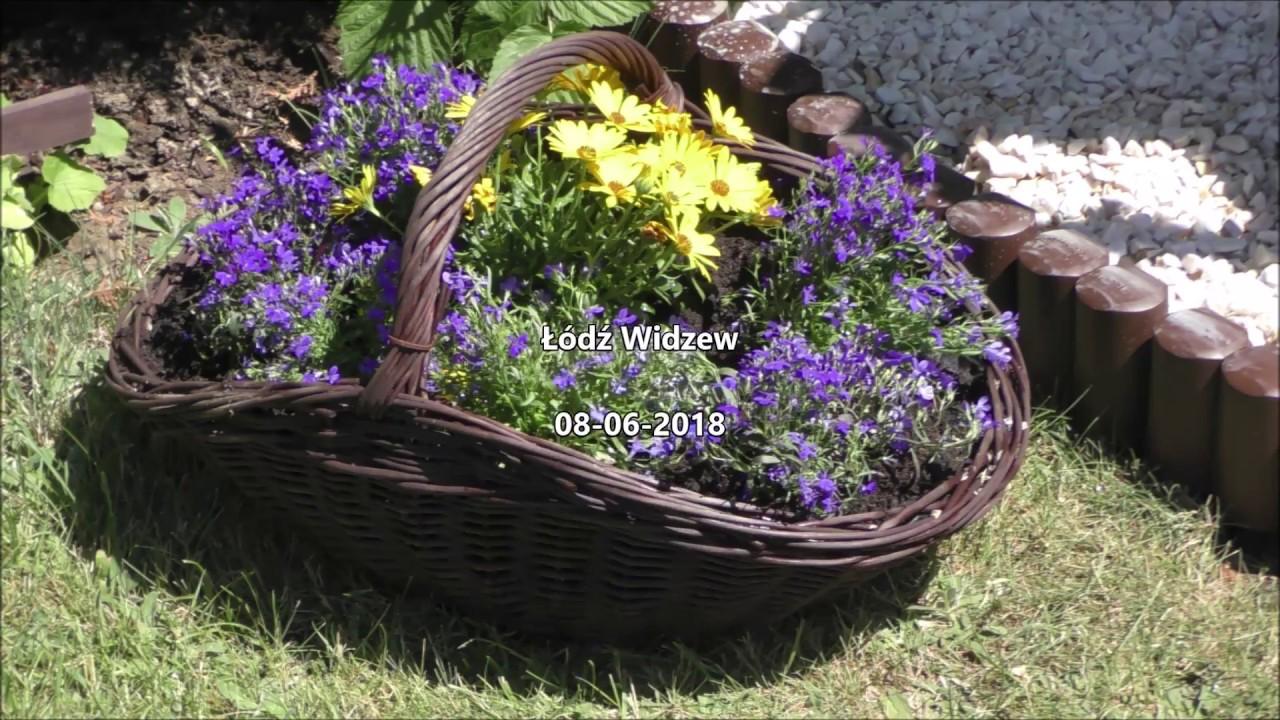 Garden 22 Kwiaty W Wiklinowych Koszach Wiatrak W Ogrodzie Youtube