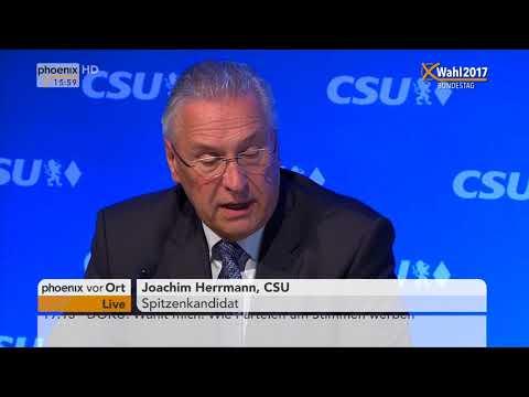 Pressekonferenz der CSU nach der Bundestagswahl am 25.09.17