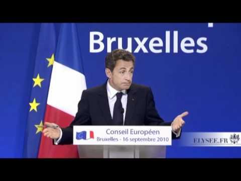 conférence de presse lors du Conseil européen extraordinaire de Bruxelles