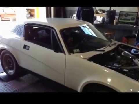 Triumph TR7 V8 Turbo Dyno Pulls 278whp 305wtq
