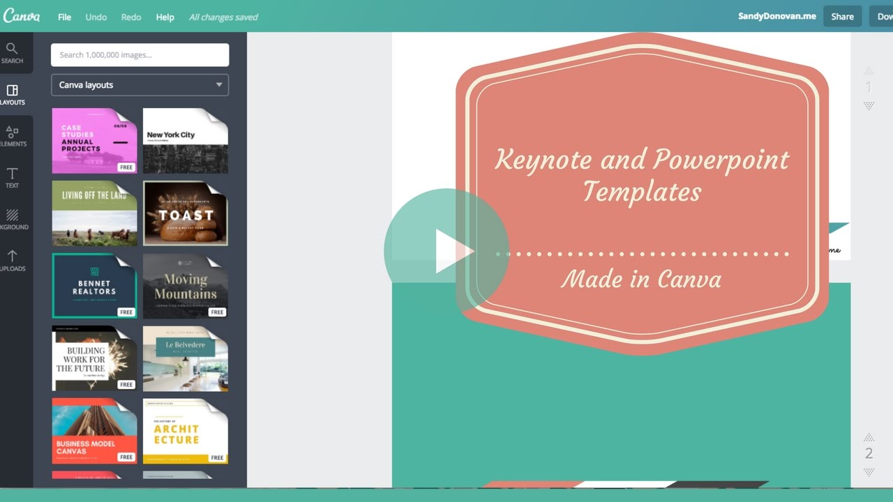 How To Create A Keynote Or Powerpoint Template Design In Canva Soooo Easy