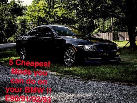 5 Cheapest Mods you can do on your BMW E90/91/92/93