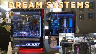der8auer and 8 Pack MEGA WATERCOOLED / PHASE CHANGE systems at Computex 2018!