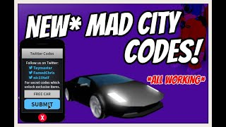 *NEW* MAD CITY CODES! *ALL WORKING* 2019 | NEW LAZERBLADE UPDATE [Roblox]