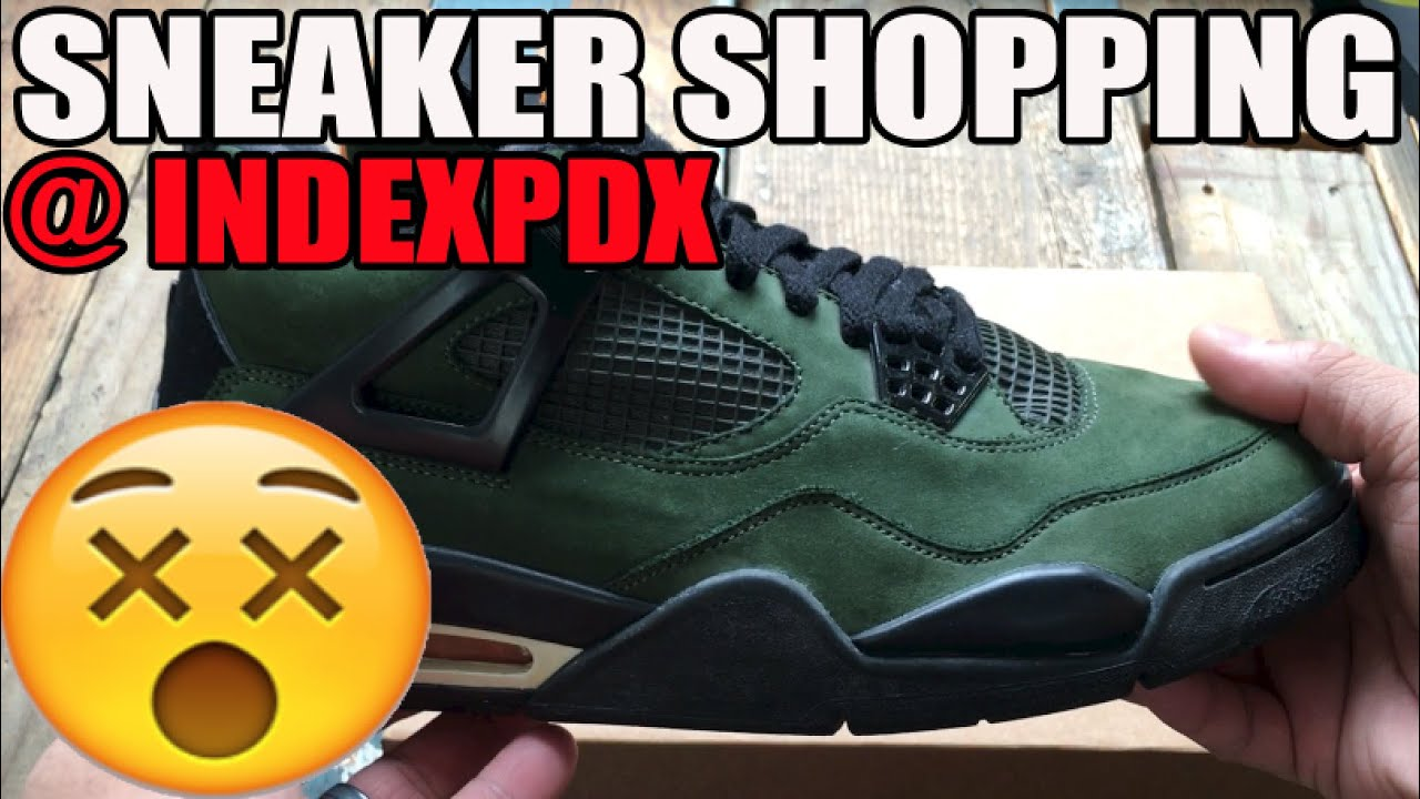 ad8a435a65c Sneaker Shopping At @IndexPDX: Undefeated 4 Sample?! Carbon Fiber Jordan  11, Dave White 1 FF!