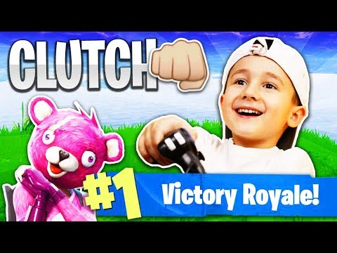 7 Year Old Kid Gets His First Victory Royale! (Fortnite: Battle Royale)
