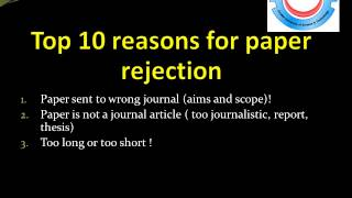 ISI journals How to get your research published