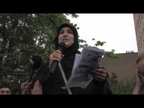 Flotilla Massacre Protest March To Israeli Embassy - Dublin, Ireland.