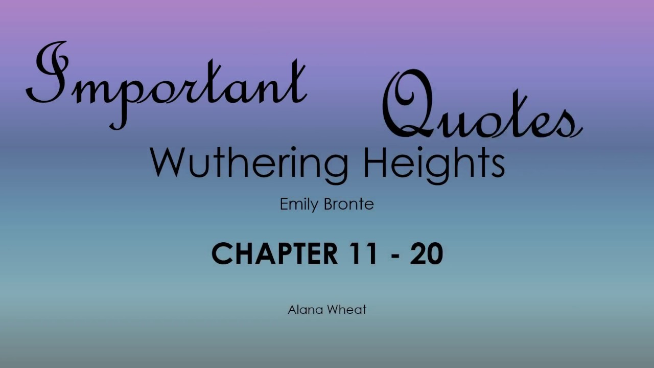 wuthering heights summaries and analysis