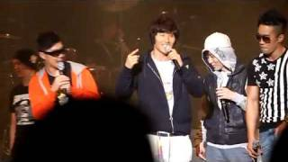KJK singing White Love with HAHA, Mikey, and Mighty Mouth at his co...
