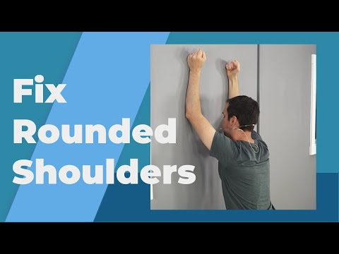 5 Exercises To Fix Rounded Shoulders Posture (Long Term Fix)
