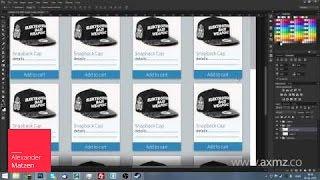 Simple e-Commerce Web template [Photoshop CC 2014]