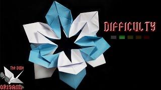 [origami Tutorial] 'snowflake' Flower || Christmas Origami/ornaments/flowers