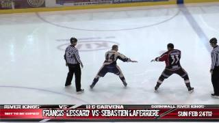 Best Hockey Fight Ever Francis Lessard Vs Sebastien Laferriere