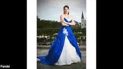 Wedding Dresses Blue and White