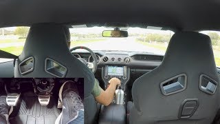 POV Drive With Pedals View - Shelby GT350 Ford Mustang