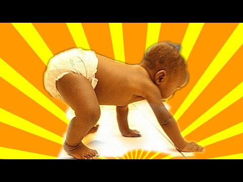 Baby's adorable way of crawling (too cute)