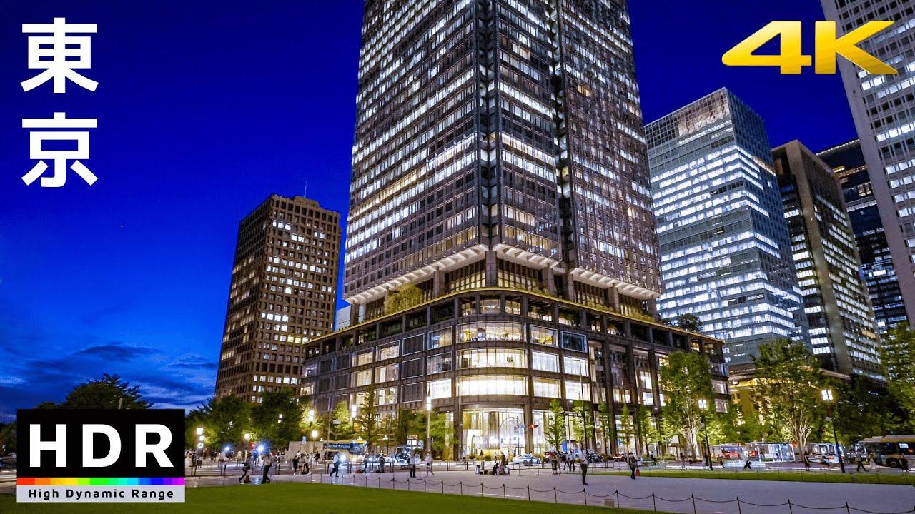 【4K HDR】Tokyo Station to Kagurazaka - Evening Walk 2021