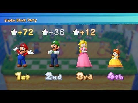 Mario Party 10 Mario Party #66 Mario vs Peach vs Luigi vs Daisy Chaos Castle Master Difficulty