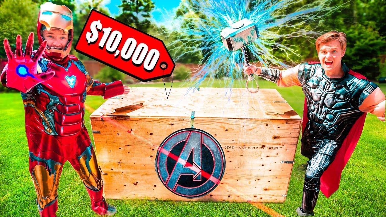 $10,000 MARVEL AVENGERS MYSTERY BOX UNBOXING! Real Life Superhero Gadgets