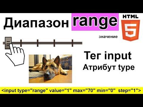 HTML5  | RANGE диапазон Формы | Атрибут Type ТЕГ Input | Value Min Max Step 🎅 Фото Сайт Урок 16.3