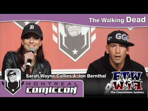Sarah Wayne Callies & Jon Bernthal  The Walking Dead  Montreal ComicCon