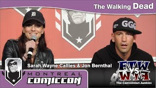 sarah wayne callies jon bernthal the walking dead montreal comiccon