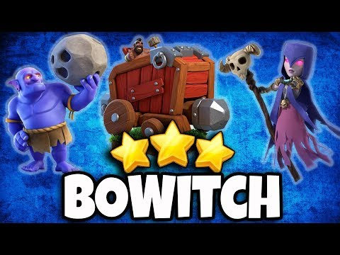 BoWitch Strategy TH12 | Max Bowler Witch & Siege Machine Army 3 Star TH12 Attack | Clash Of Clans