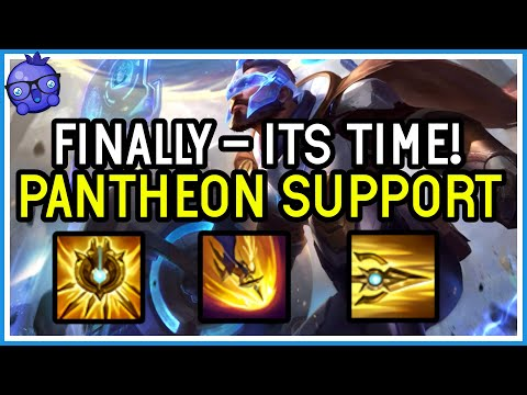 I FINALLY PLAY IT! - PANTHEON SUPPORT! - League of Legends