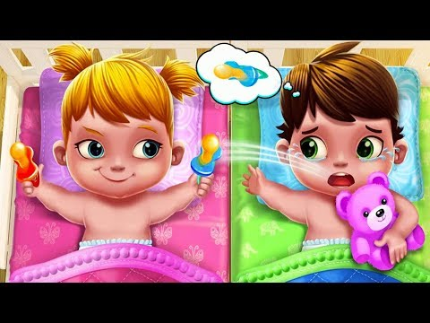 Fun Kids Game - Baby Twins Adorable Two - Fun Play Babysitter Dress Up, Bath Time & Care Games