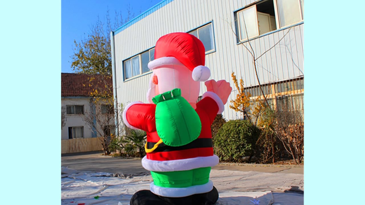 huge gigantic giant 20ft santa claus set up for house christmas decorations