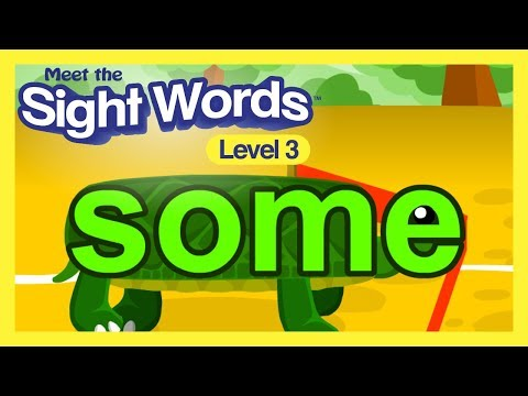 """Meet the Sight Words Level 3 - """"some"""" #1"""