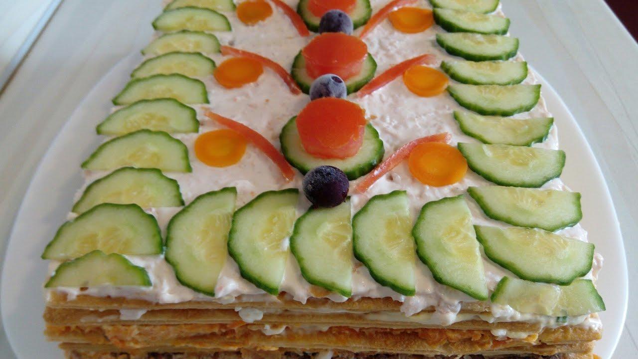 Рецепты рыбного торта наполеон