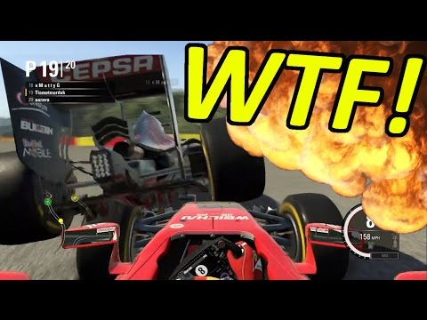 DRIVE TILL THE TYRES EXPLODE: F1 Game Funny Moments & Crashes