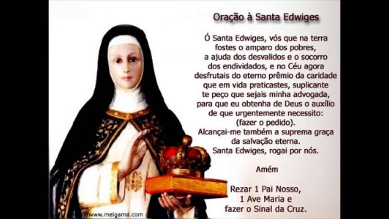 ORAÇÃO Á SANTA EDWIGES (NARRADA POR: FRANCISCO CUOCO) - YouTube