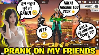 My Rude Behaviour To My Friends | | Prank Gone Emotional - Rahul GAmer