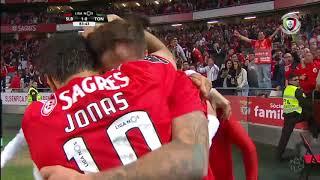 Goal   Golo Seferovic: Benfica (1)-0 Tondela (Liga 18/19 #27)