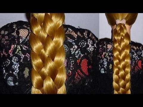 Doppel-Zopf Frisur/Flechtfrisur für mittel/lange Haare zum selber machen.Braid Hairstyle.Peinados