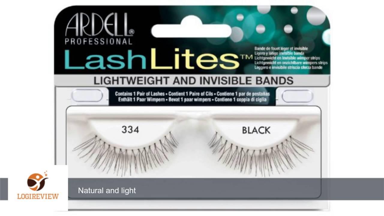 4568da93a36 Ardell LashLites False Eyelashes - #334 Black (Pack of 4) | Review/Test