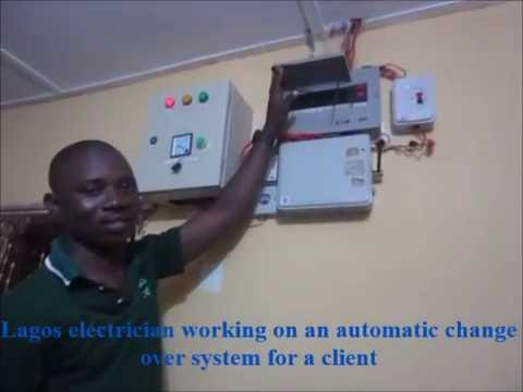 Lagos Electrician At Work Installing An Automatic Change Over Electrical System At Ikorodu, Lagos