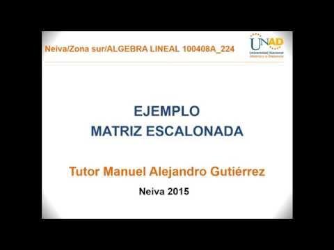 MATRIZ ESCALONADA