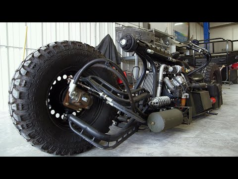 Clint August - This Diesel Motorcycle Is Built From Everything. Including The Kitchen Sink