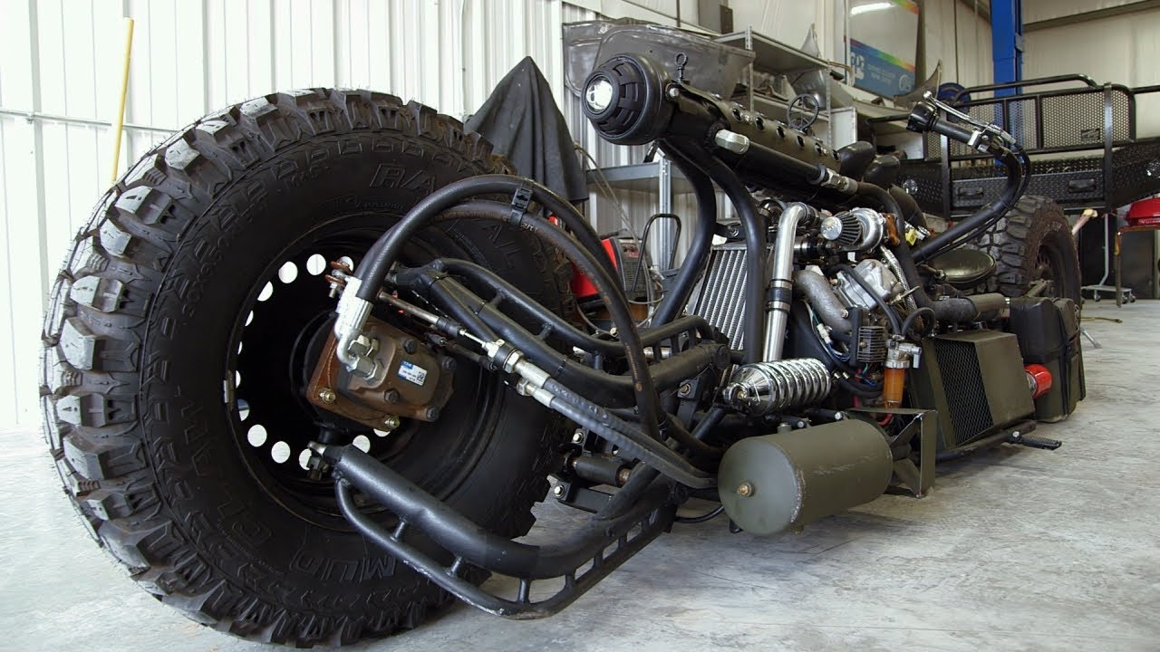 This Diesel Motorcycle Is Built From Everything