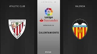 Calentamiento Athletic Club vs Valencia