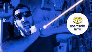Testando o Laser Mais Forte do Mercado Livre 🔥