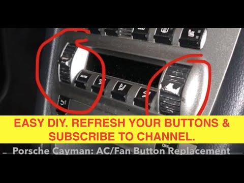 #Porsche #Cayman: #AC/Fan #Button Replacement **EASY!